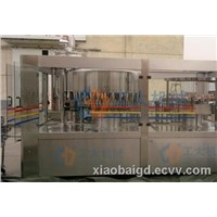 water juice beverage bottle rinsing filling capping machine