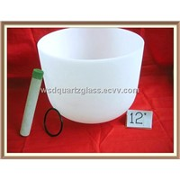 Pure frosted crystal singing bowl