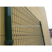 Ral6005 5.0mm Wire Metal Welded Fence Panel / Panel Fencing for Road Security