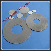 Ring shape / loop shape / two circles shape stainless steel filter mesh disc
