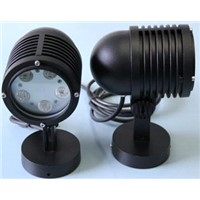Round LED LED Landscape Light RGB 24V Projector LED Tempered Glass and Stainless Steel Trim