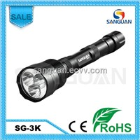 SG-3K 3xT6 LEDs 3000 Lumens Powerful Flashlight