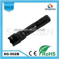 SG-502B Rechargeable CREE Q5 Outdoor LED Flashlight With Clip
