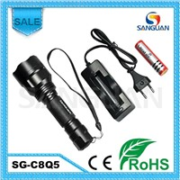 SG-C8Q5 Red/Green Lamp Rechargeable Powerful Hunting LED Flashlight