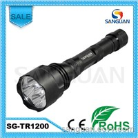 SG-TR1200 fask track hunting flashlight Q5 LED battery rechargeable hunting flashlight