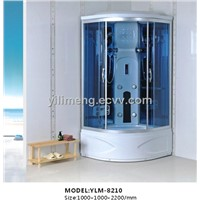 Shower Room with Folding Chair and ABS Back and Aluminium Alloy Profile