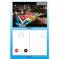 Sound/Voice/Music/Talking/Recordable Postcard with Custom Artwork