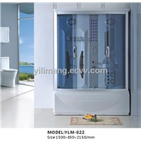 Square ABS Steam Shower Room with Whole ABS Back
