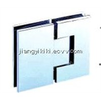 Square Corner Shower Hinge 180 Degree Glass Door Brass Hinge