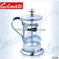 Stainless steel stand High grade Glass French Presser, Coffee Maker, Tea Maker 0.6L, 0.8L