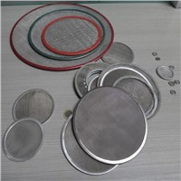 Stainless wire mesh filter disc with edge