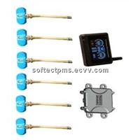 TPMS for truck and trailer with internal sensors