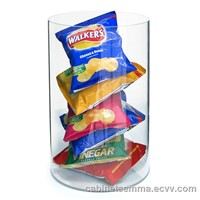 Tubular Display-300mm Acrylic Cube Cylinder Perspex Candy Display
