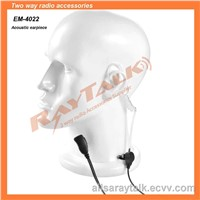 Two Way Radio Earpiece Acoustic Tube Earpiece with Small Lapel Ptt for Two Way Radio (EM-4342)