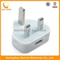USB travel wall charger for Apple iPhone iPad Samsung Blackberry HTC
