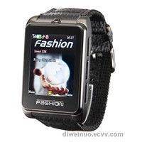 Ultra-thin all-steel watch phone with nylon leather strap