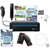 Wii Black Sports Bundle with 3 Games, Wheel, and more - WII-BLK-SPORTS-QBNDL