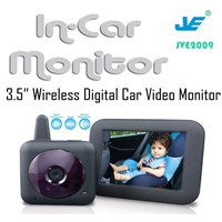 Wireless digital car baby monitor*camera,3.5 inch LCD IR night Vision Baby monitor for car
