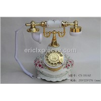 antique resin rotary telephone,colour style series telephone