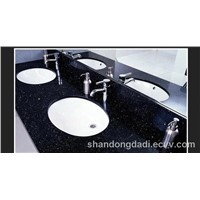 black starlight quartz vanity top
