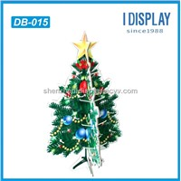 cardboard tree display for holiday gifts hanging