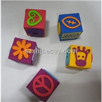 cartoon foam stamp set for kids promotional gift
