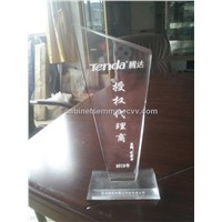 Clear Acrylic Crystal Award Perspex Trophy Medal
