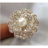 diamond pearl jewelry finger ring  natural stone alloy clothes accessaries factory OEM 10 dozen MIQ