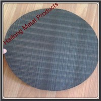 iron / carbon steel plastic extruder screen mesh disc