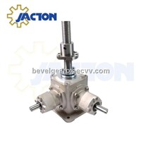 jack screw bevel gearbox, high speed screw jacks, gear ratio 1:1 screw jack