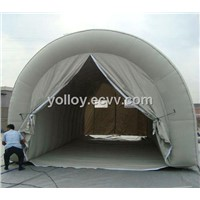 Light Grey Carpas Hinchables Inflatable Garage Tent with Transparent Window