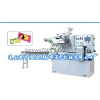punching hole and sticking label packing machine