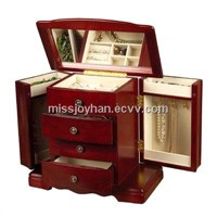red painting wooden jewelry syorage gift box wholesale