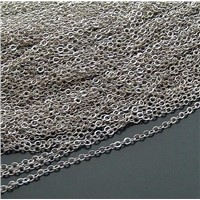 sterling silver cable chain,link chain,silver fine chain