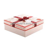 cardboard gift box with ribbon