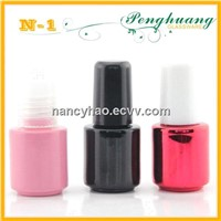 different color nail polish glass bottle