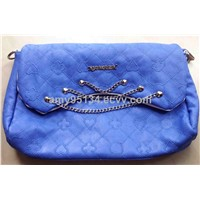 Cheapest PU Leather Embroidery Ladies Totes Long Chain Handbags