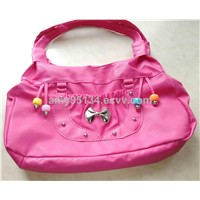 Newest Classic Half PU Leather Ladies Handbags with Butterfly Knot on Women Shoulder Totes