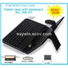 Hot selling tablet pc leather keyboard case  7 inch to 10.1 inch