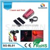 5xRed LED + 2xRED Laser Bike Laser Taillight (CE approval)