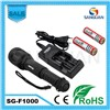 Wholesale Cree T6 LED 1000lm Rechargeable Zoom Tactical LED Torch