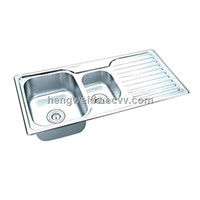 10048BS topmount sink with  Steel plate