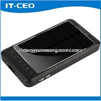 3600mAh portable hot sale solar charger for iPhone SAMSUNG HTC