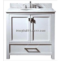 36 Inch Single Sink Bathroom Vanity Cabinet In White Color