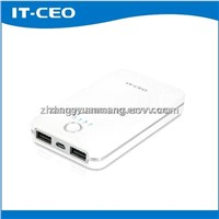 6000mAh 1A-2.1A automatic hot sale travelling universal power bank for iPhone iPad