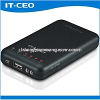 6600mAh aluminum alloy portable mobile power bank for iPhone5 iPad Samsung S3