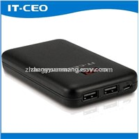 7200mAh aluminum power bank for smart phone 3times