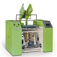 Automatic stretch film and cling film rewinder machine