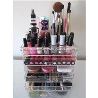 Cosmetic Display Stand Desktop Clear Acrylic Polished Makeup Organizer