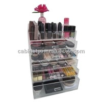 Countertop Acrylic Cosmetic Drawer Box Make-Up Display Box